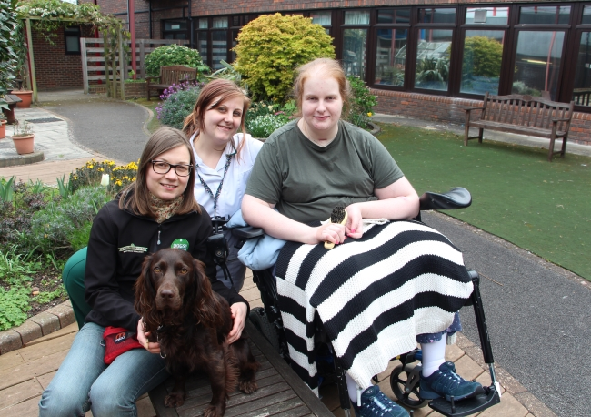 Dogs for Good assistance dog with patients