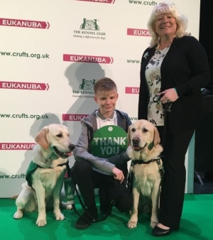 Joel and Caddie at Crufts
