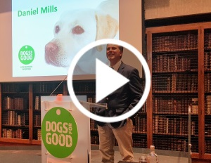 Professor Daniel Mills speaking at Power of Dogs
