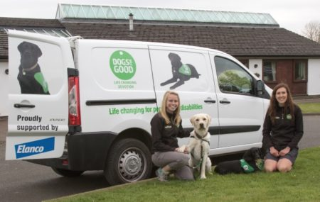 Corporate sponsored Dogs for Good van