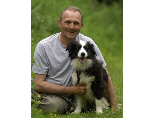 Stephen Jenkinson with dog