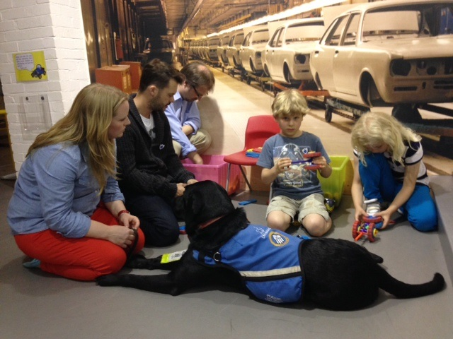 Butt Family at Transport Museum with Ivan and Barney Harwood