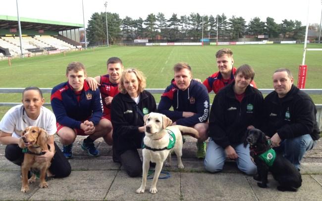 Warriors meet Dogs for Good Puppy Socialisers
