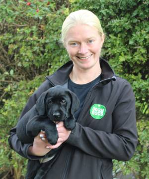 Becci Hodge with puppy Katie
