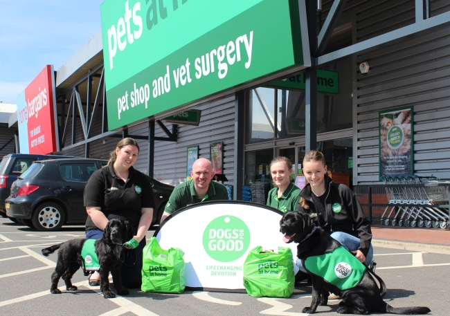 Pets at Home carrier bag donation