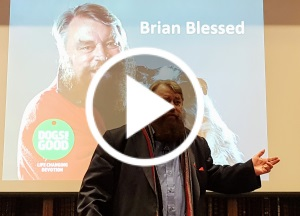 Brian Blessed speaking at Power of Dogs event