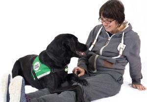 Jacqui and assistance dog Duke