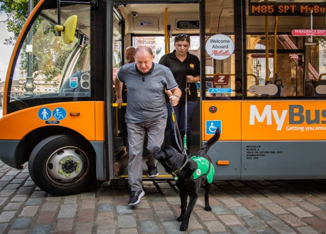 How are dogs helping people with Dementia