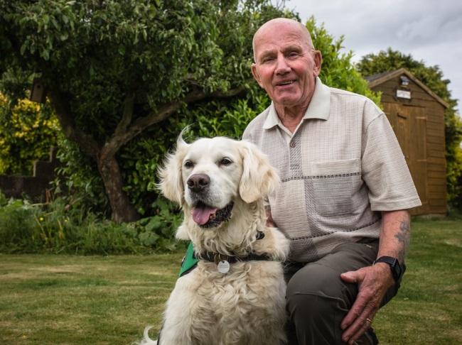 Frank with Dementia Assistance Dog Oscar